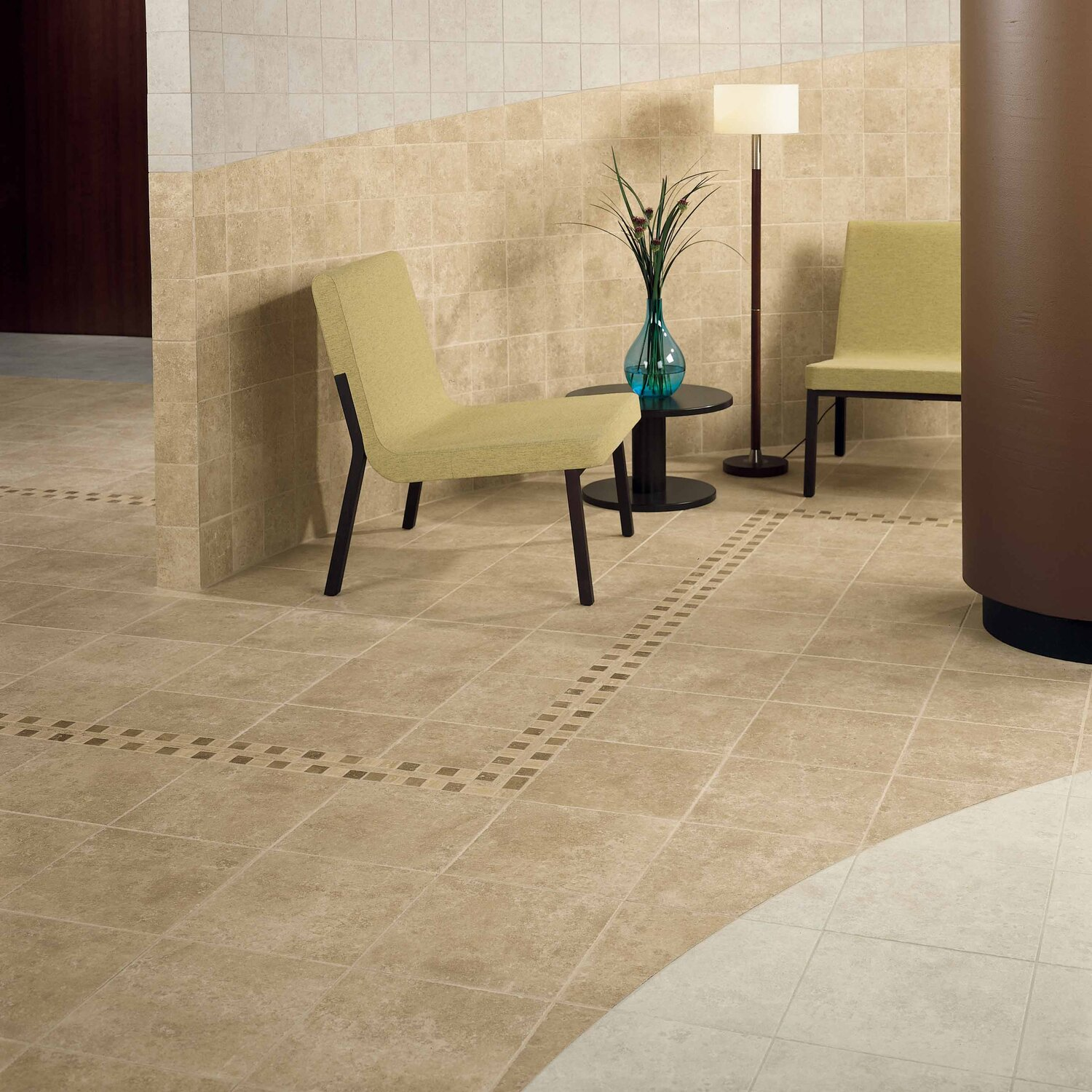 Floor tile trim