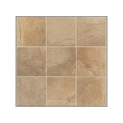 Brown ceramic floor tile