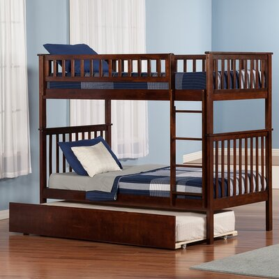 Atlantic Furniture Woodland Twin Over Standard Bunk Bed With Urban Lifestyle Trundle Ab5615 Fy3479