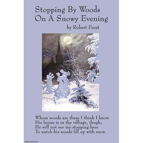 stopping by woods on a snowy evening essay questions