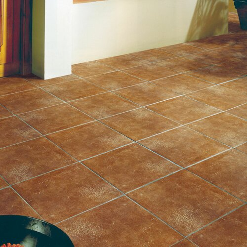 Snap together ceramic tile flooring