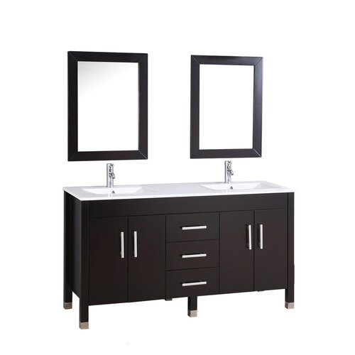 Mtdvanities Monaco  Double Sink Bathroom Vanity Set With Mirrors