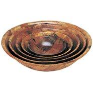 Round Wood Salad Bowl