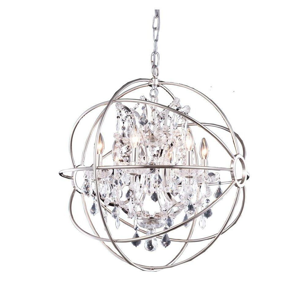 Elegant Lighting Geneva Six Light Foyer Pendant Reviews