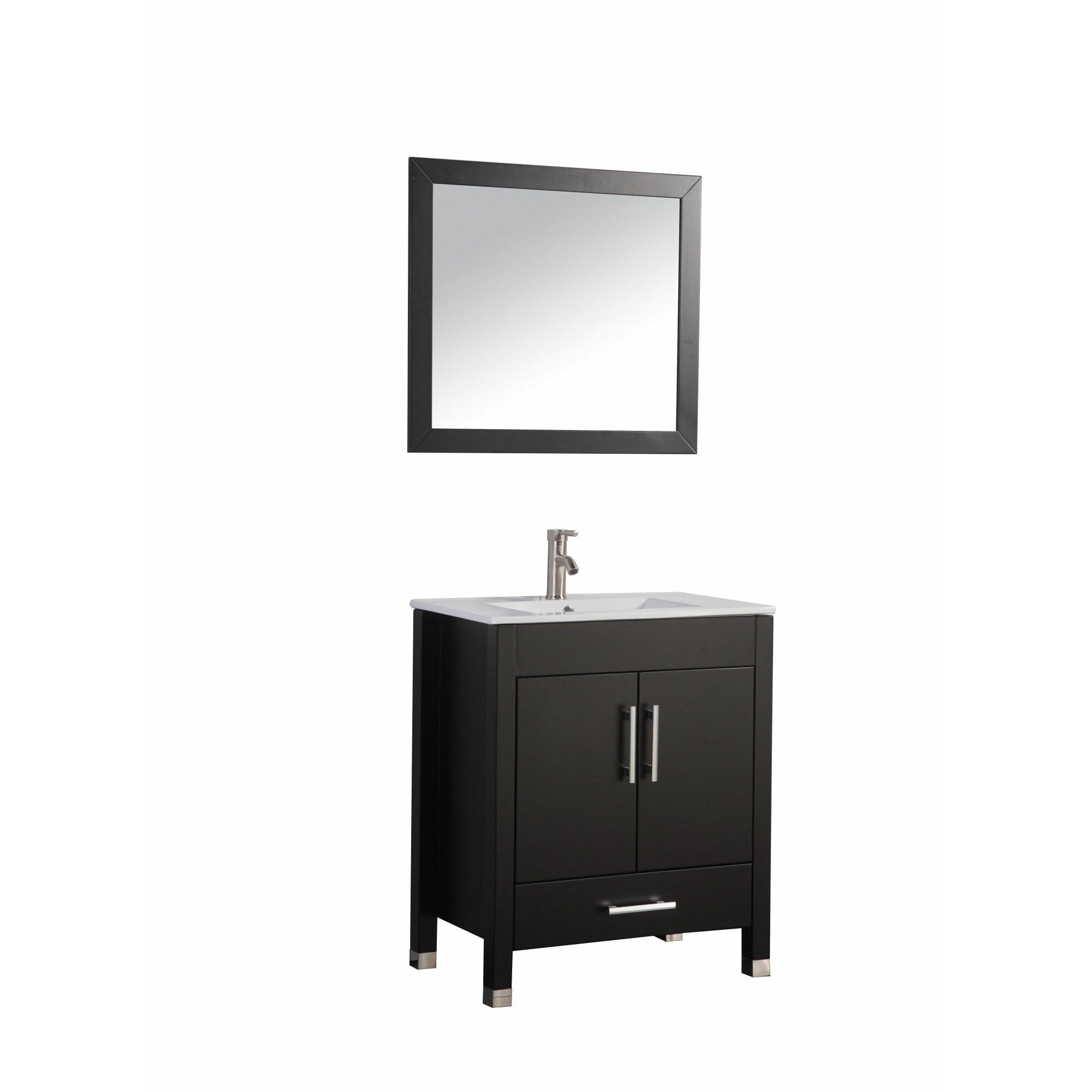 Mtdvanities Monaco  Single Sink Bathroom Vanity Set With Mirror