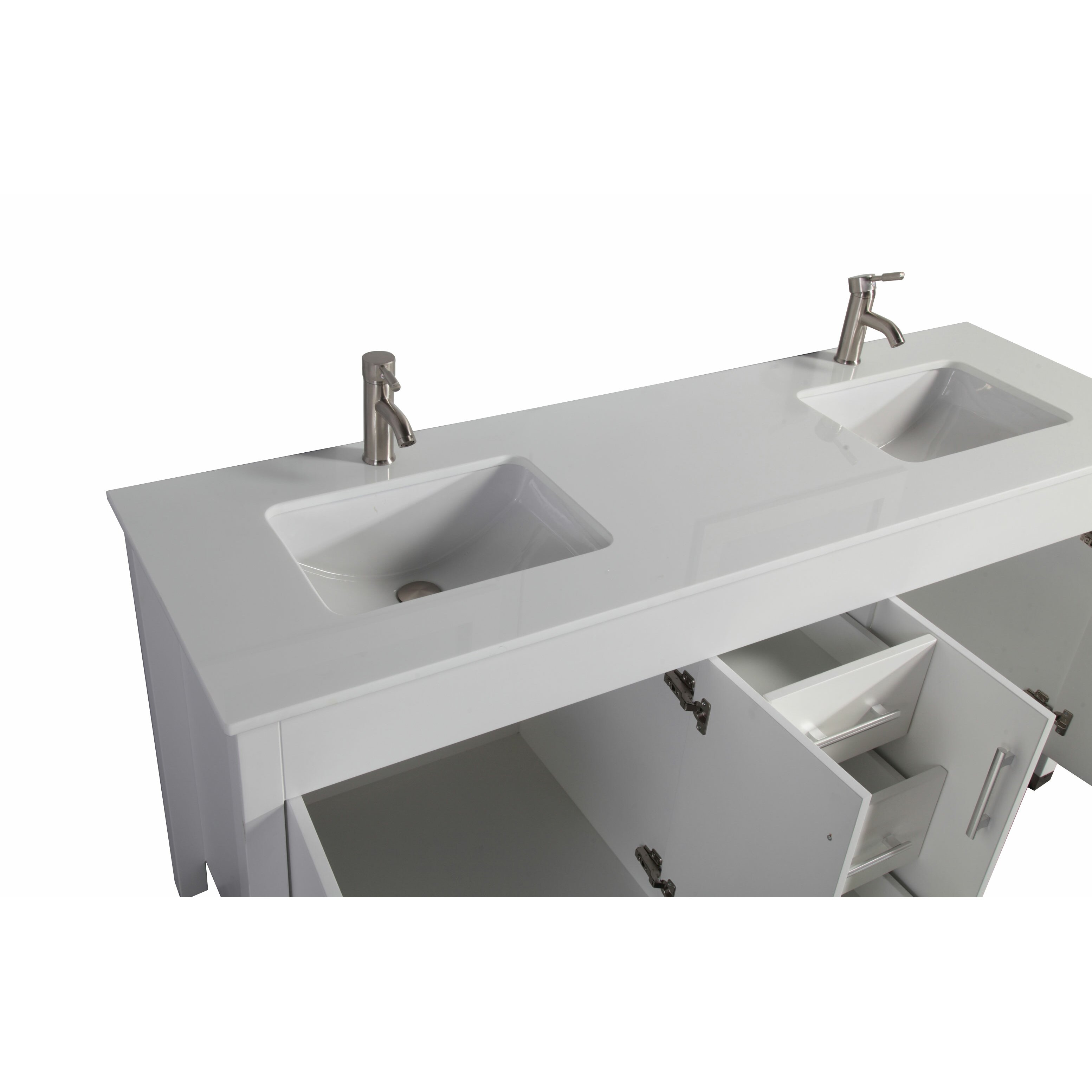 Monaco  Double Sink Bathroom Vanity Set With Mirrors By Mtdvanities
