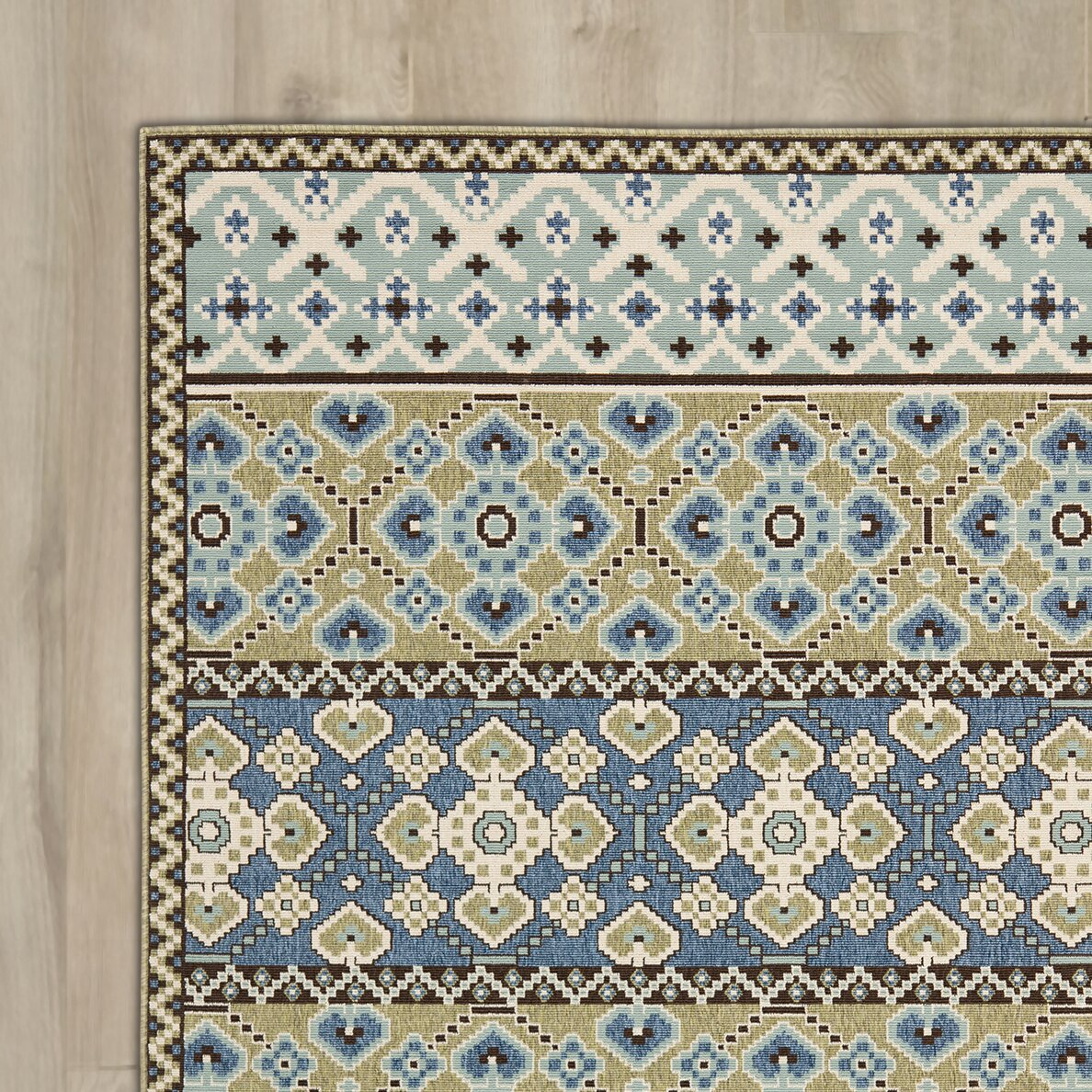 Images for green blue area rug