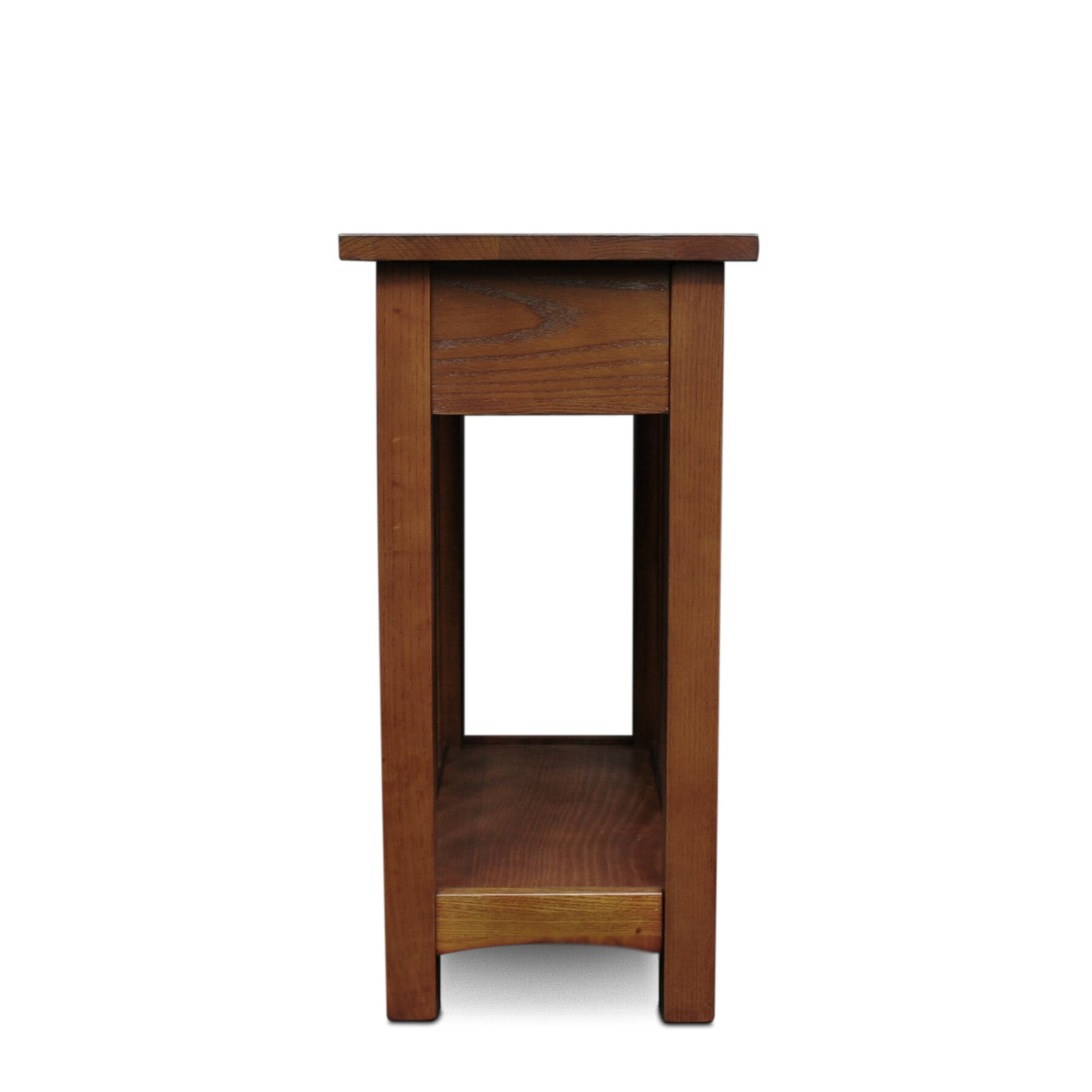 Mission Oak Bedroom Furniture Leick Furniture Mission Chairside Table With Storage Drawer And