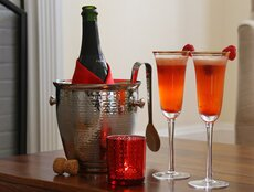Romantic Raspberry Champagne Cocktail
