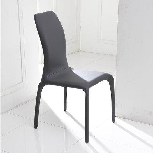 grey faux leather dining chair allmodern