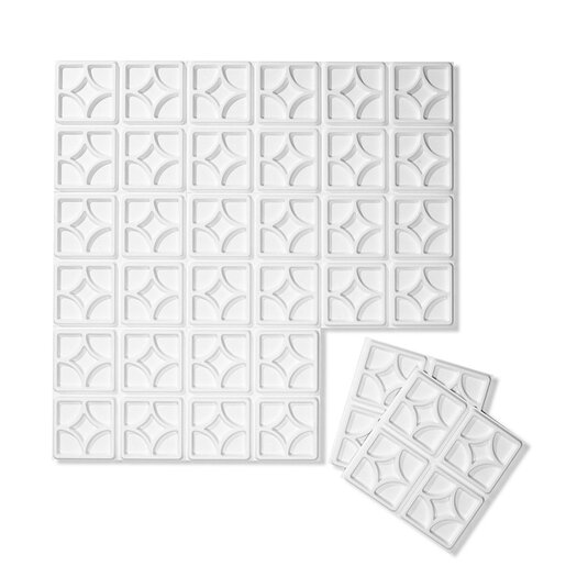 Embossed Tile Wallpaper Embossed 10-piece Tiles