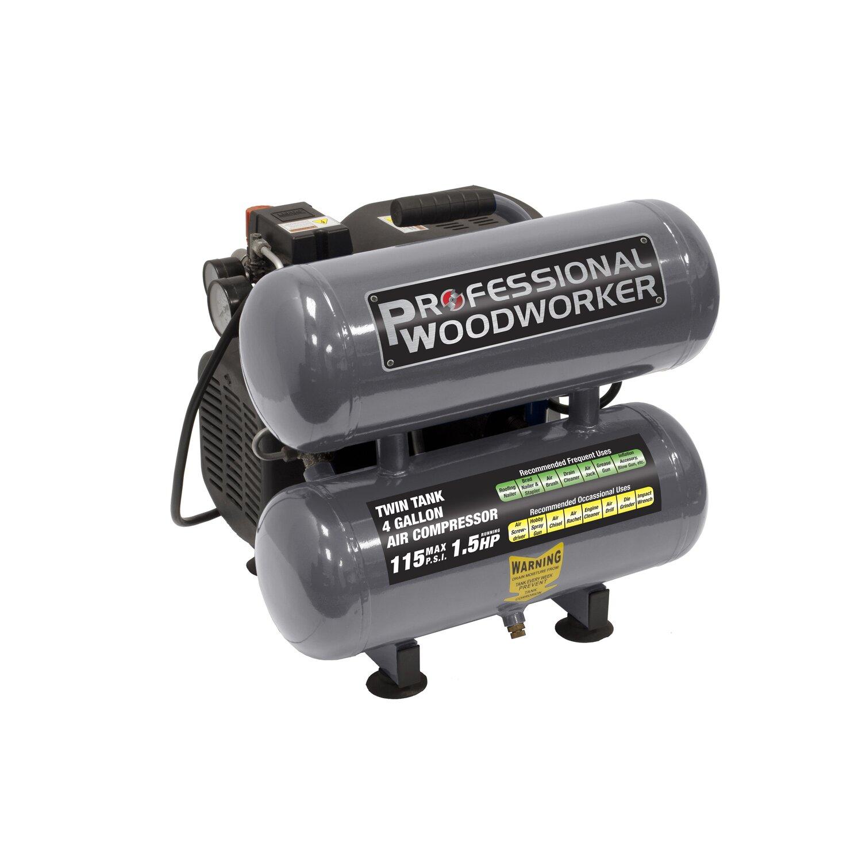 Quiet Air Compressor Reviews Professional%bwoodworker%b%bgallon%btwin%bstack%bair%bcompressor