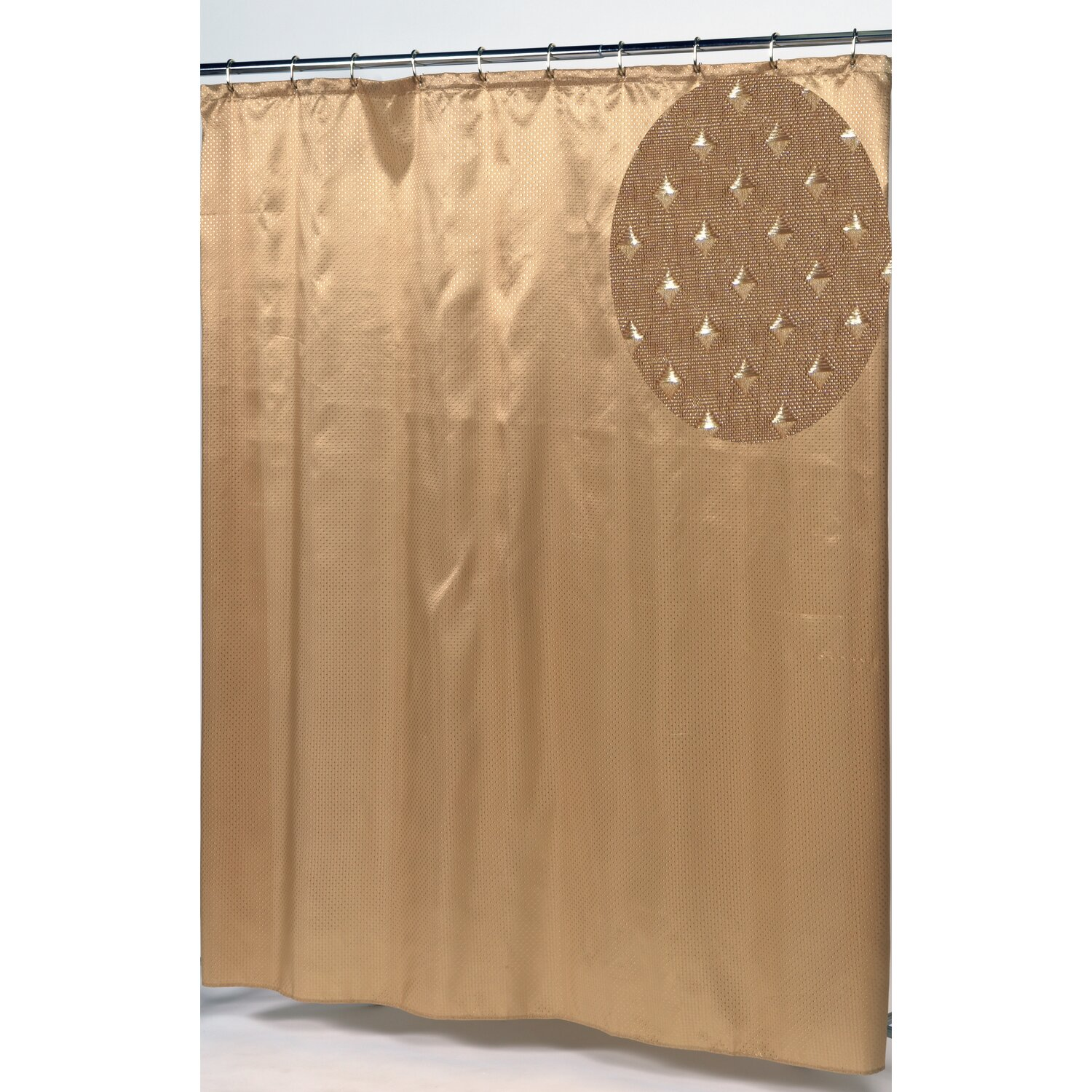 Carnation Home Fashions Fabric Shower Curtain Carnation Home Fashions Lauren
