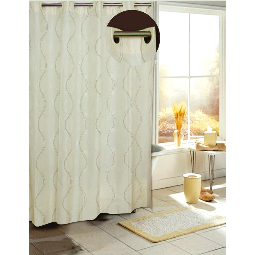 Carnation Home Fashions Shower Curtain Carnation Home Fashions Ez On