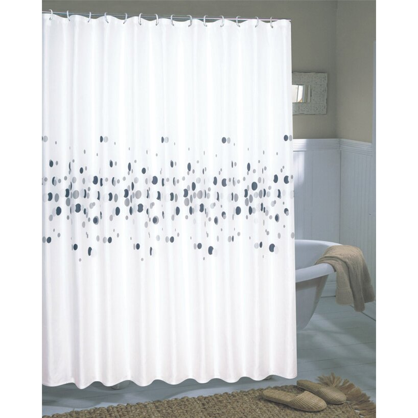 Carnation Home Fashions Fabric Shower Curtain Carnation Home Fashions Dots