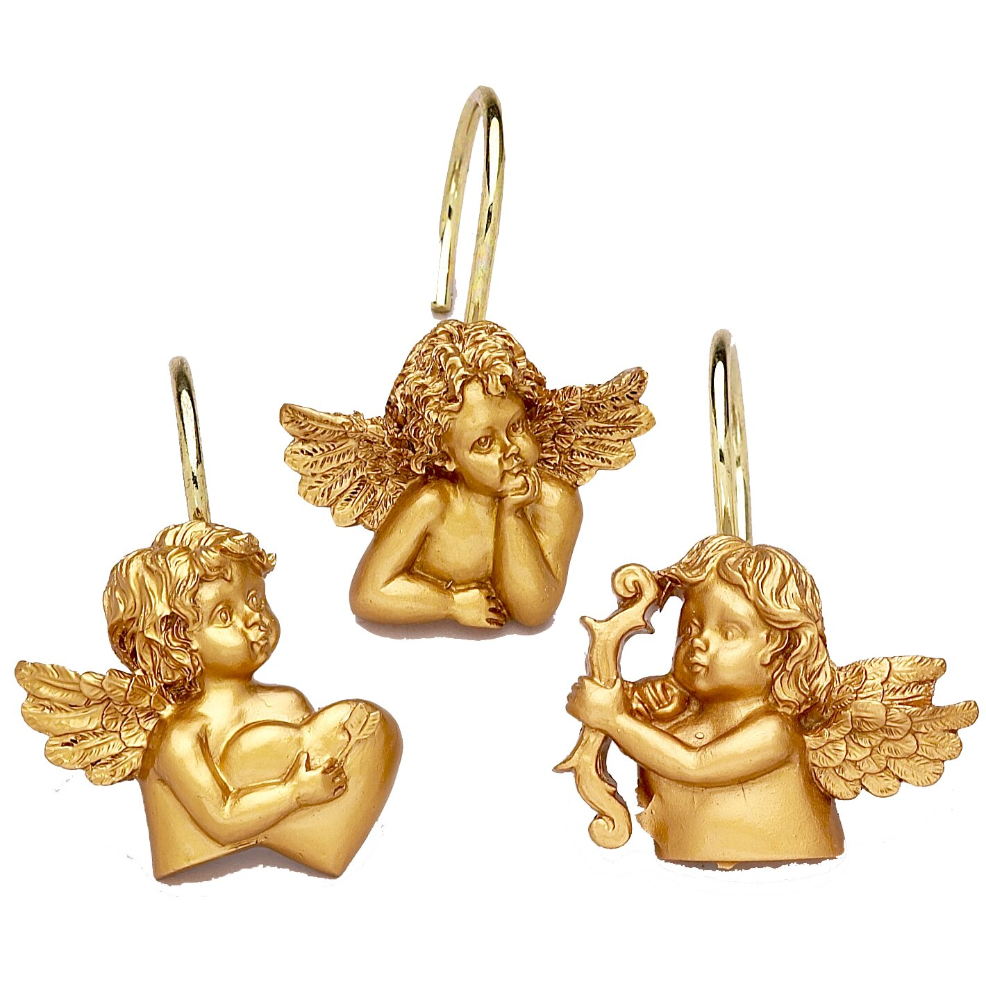 Carnation Home Fashions Shower Curtain Hooks Carnation Home Fashions Angels