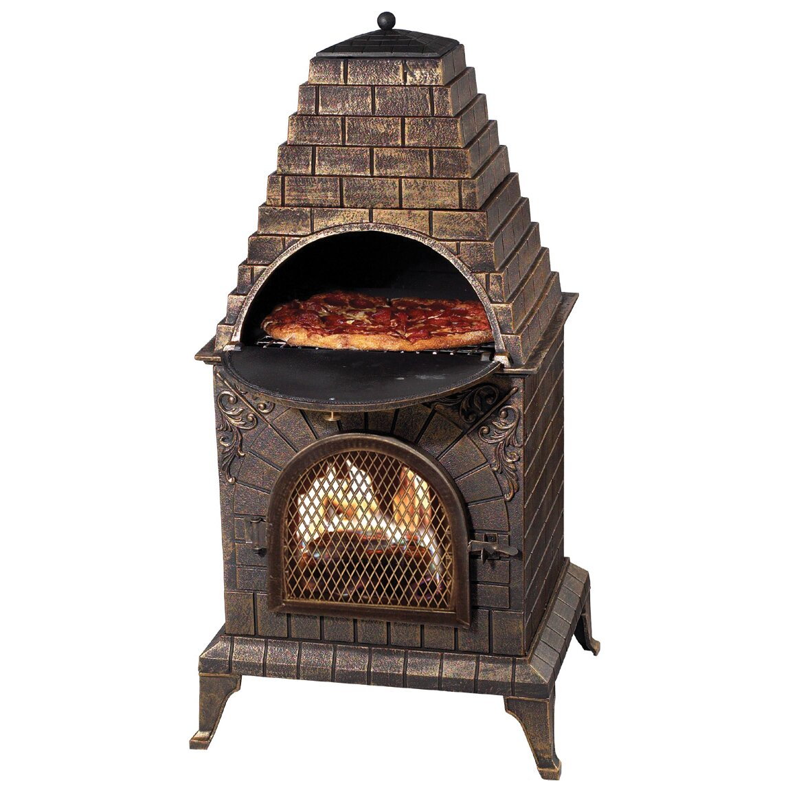 Outdoor Pizza Oven Fireplace Chiminea Wood Burning Bbq