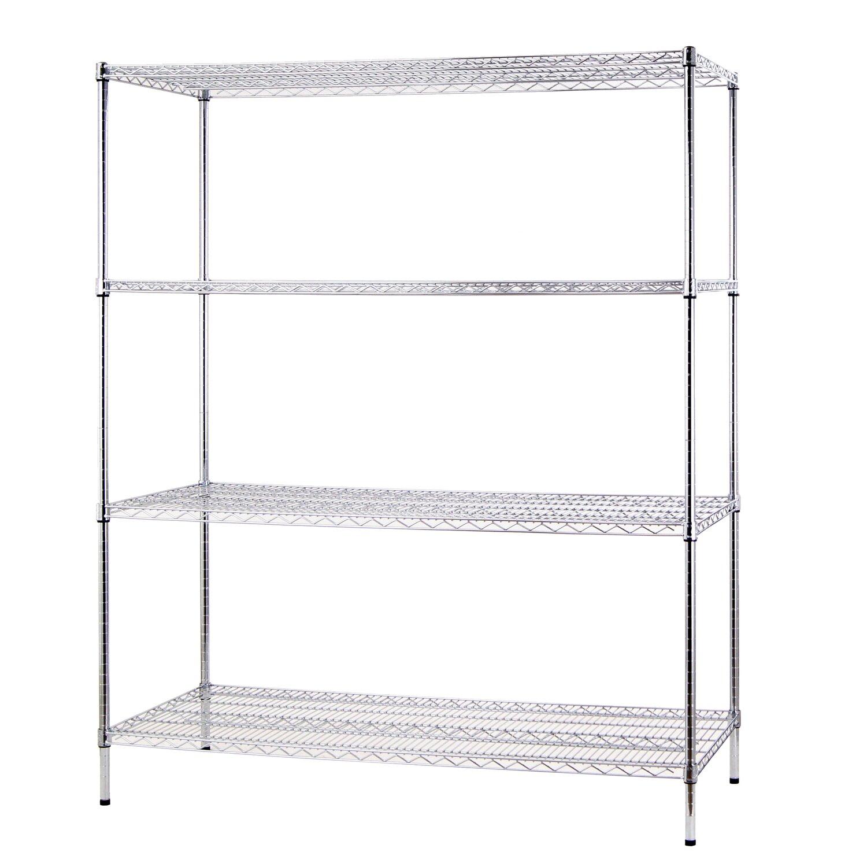 Chrome 4 Shelf Unit 4 Shelf Shelving Unit ii