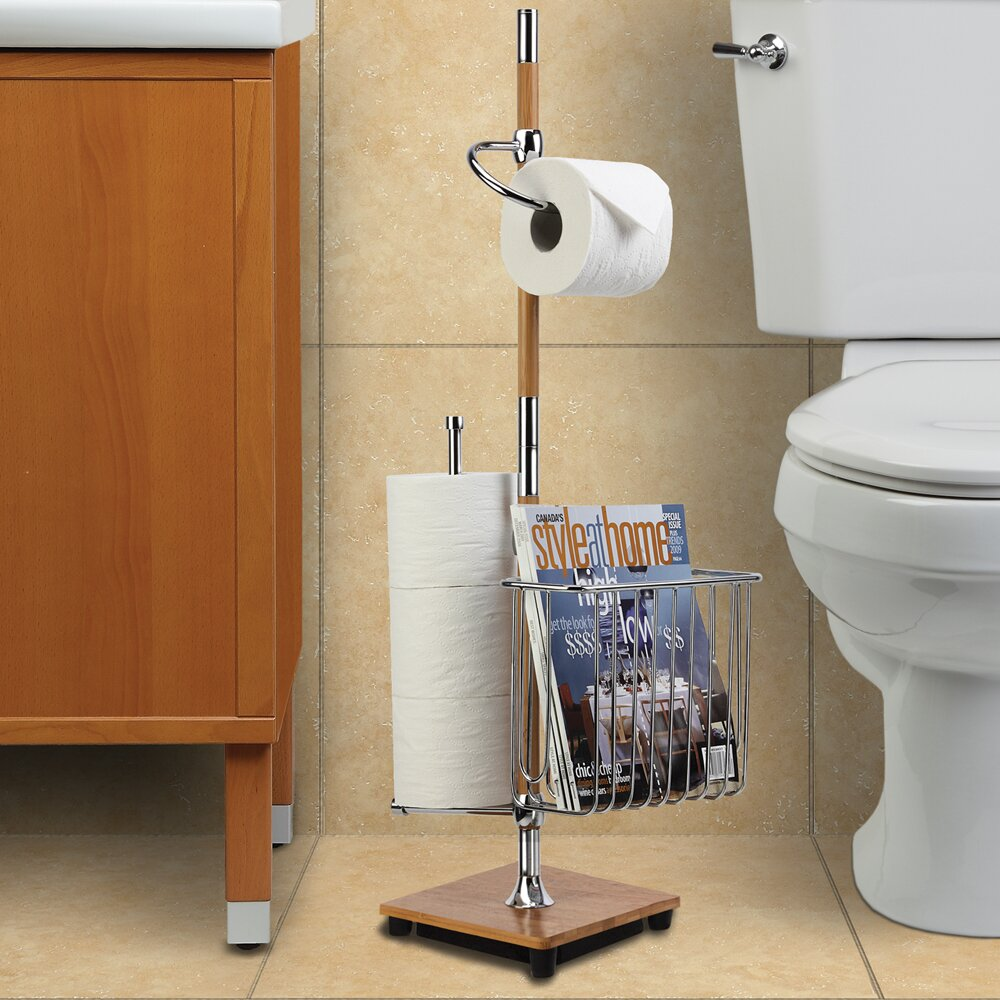 Bamboo Toilet Paper Bamboo Toilet Caddy