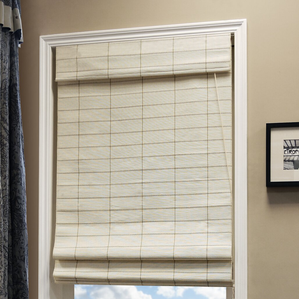 Rattan Roman Shades Natural Woven Roman Shade