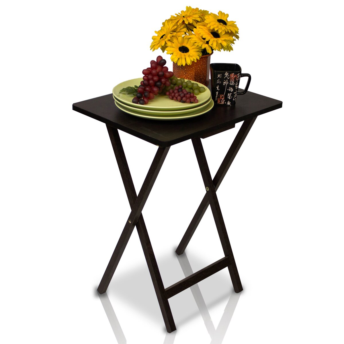Folding food tray table images for Cuisine table retractable