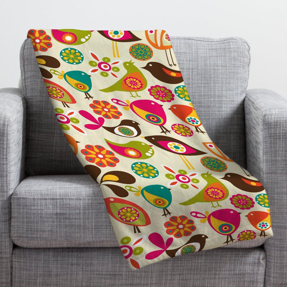 Bird Throw Blankets