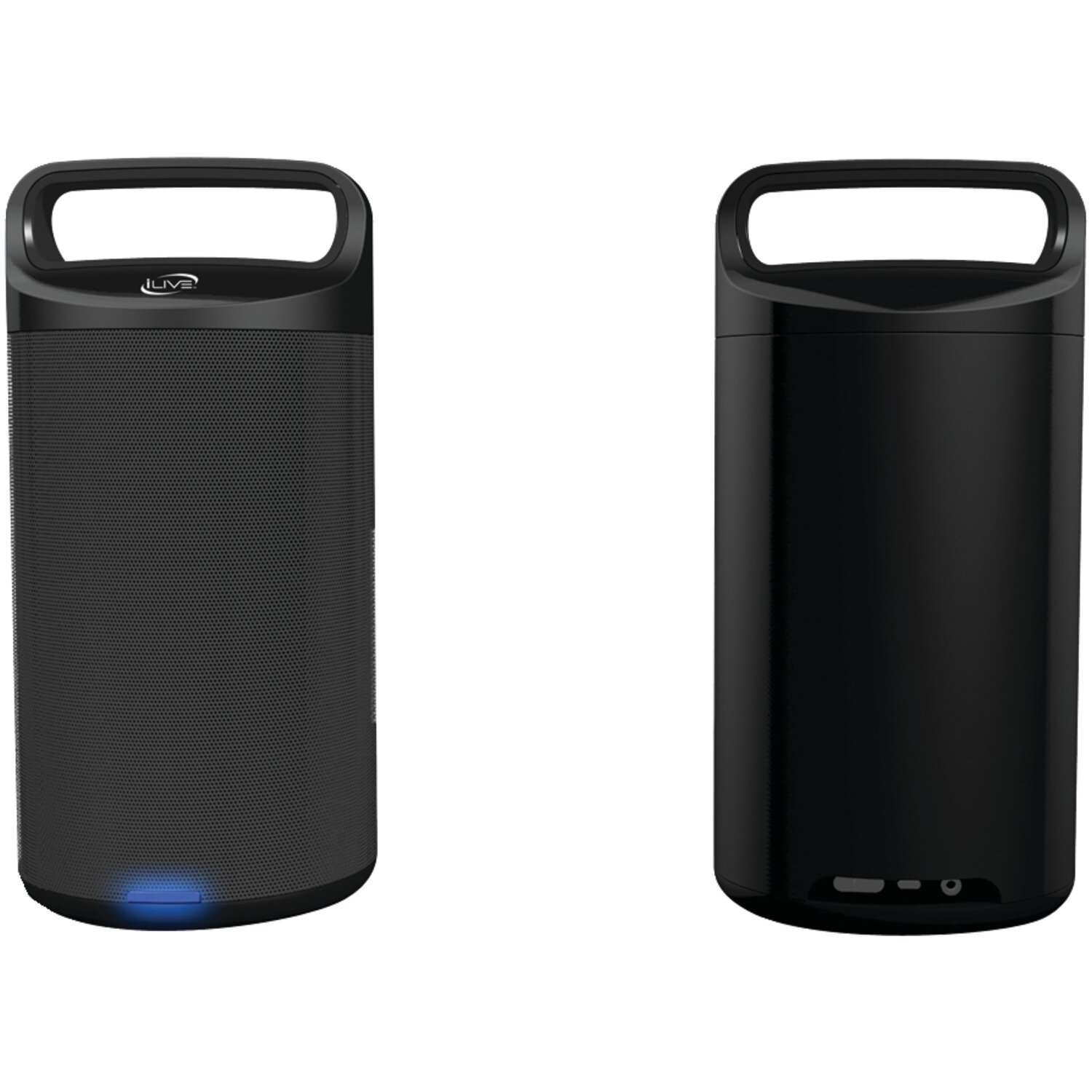 Portable Wireless Bluetooth Speakers by iLive  Includes AC/DC power adapter Digital FM radio Audio line input USB port for mobile phone, iPod or iPhone charging Built-in rechargeable battery Comes with 2 speakers Manufacturer provides 90-day warranty