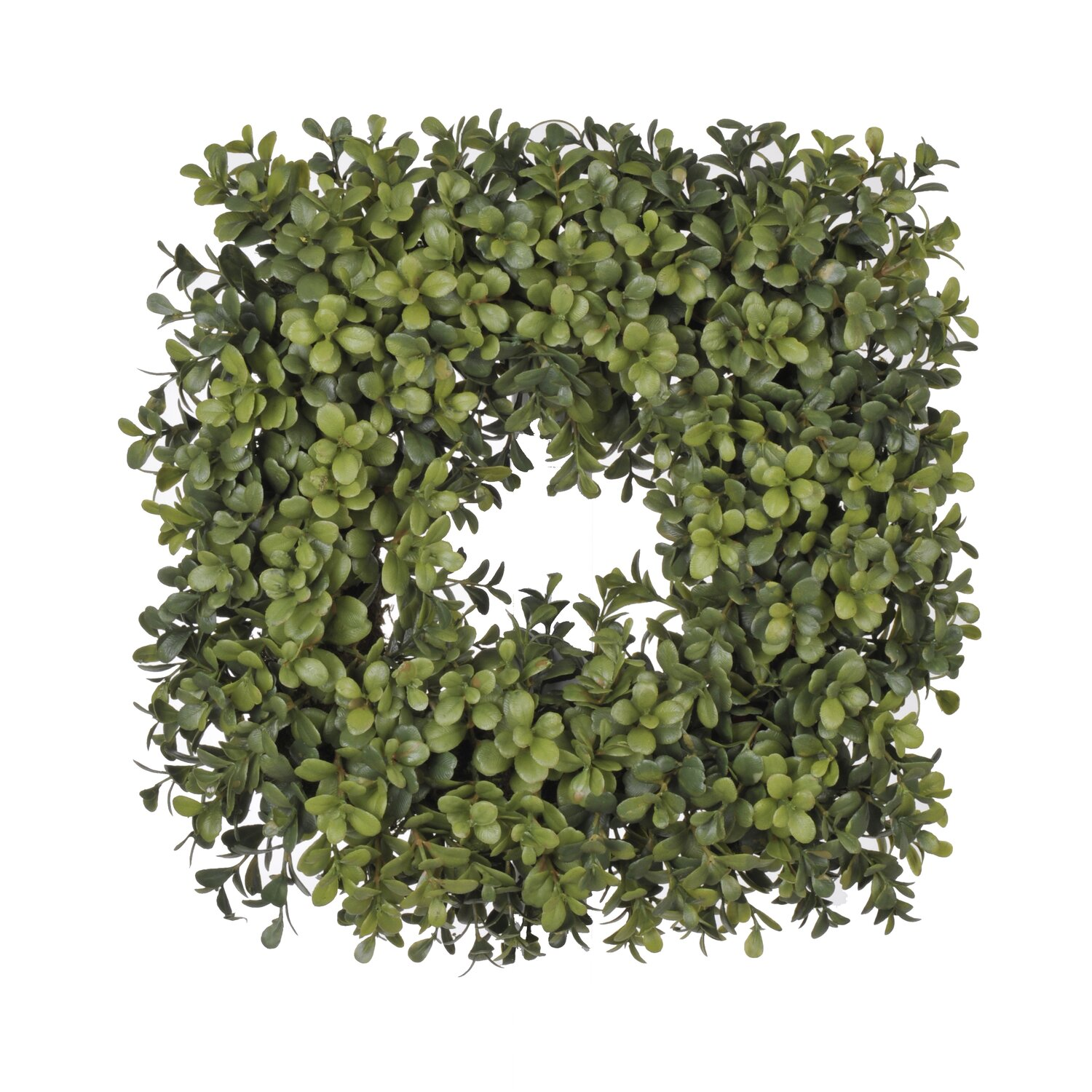 Square Artificial Boxwood Wreath