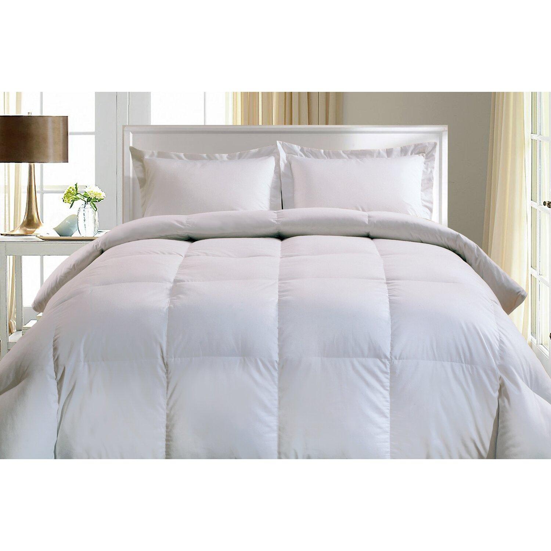 Down Comforter Queen Blue Ridge Home Fashions Thread Count European White