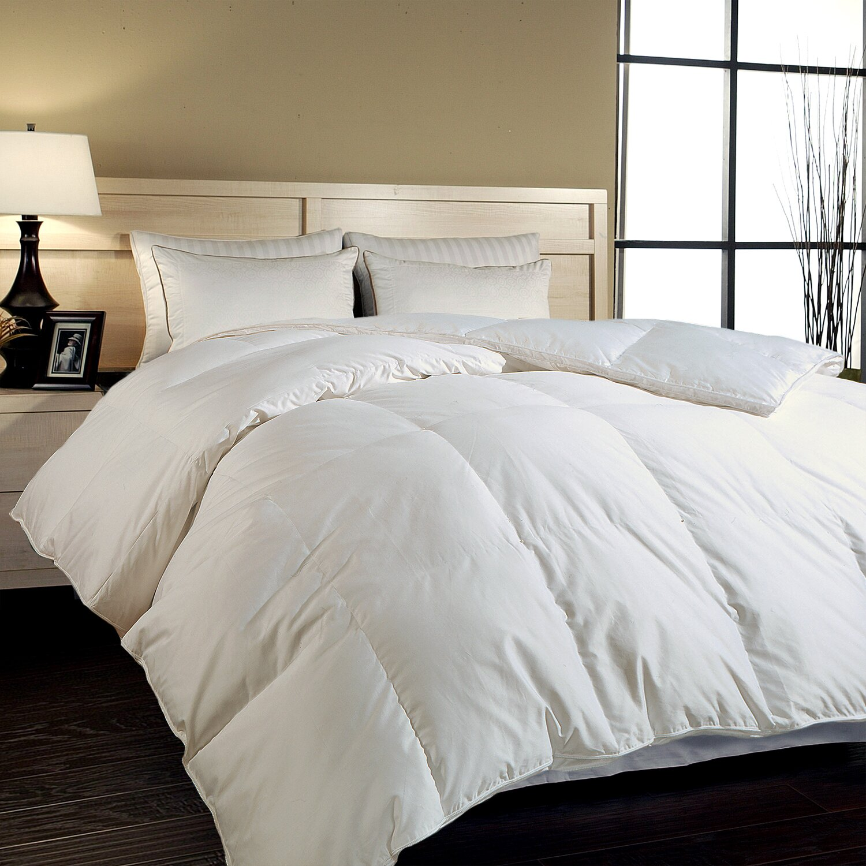Down Comforter Queen Blue Ridge Home Fashions Thread Count Hungarian White