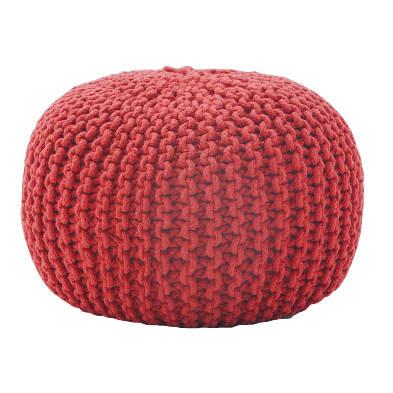 Rope Knit Pouf Ottoman