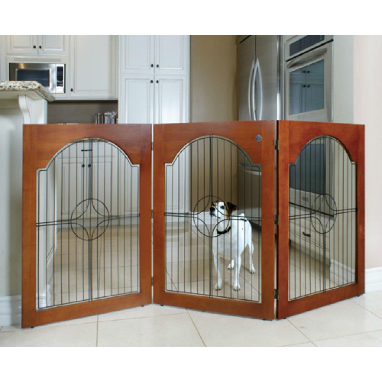Zebra Pet Gate Wood Wire Pet Gate