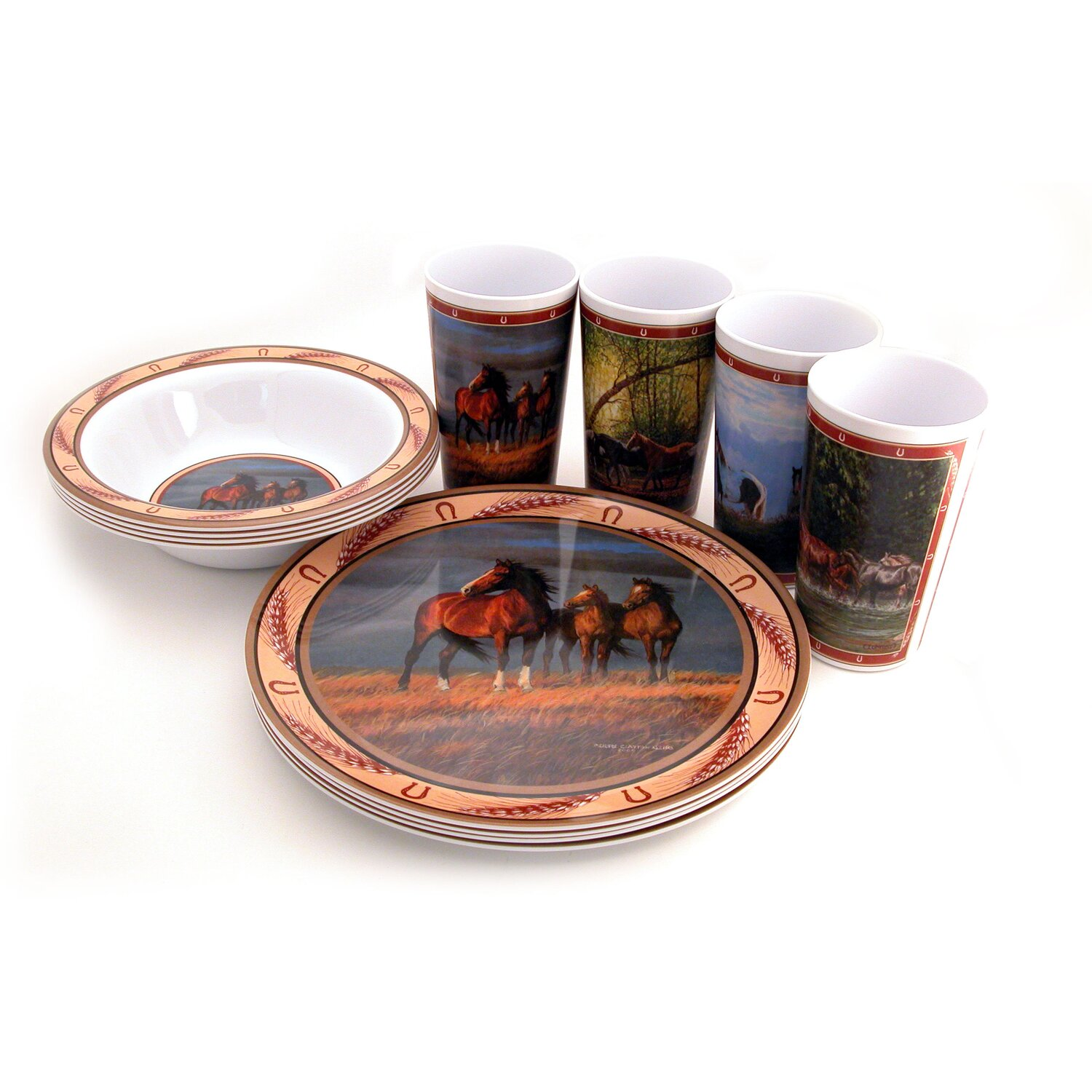 Wild Horses Melamine Dishes