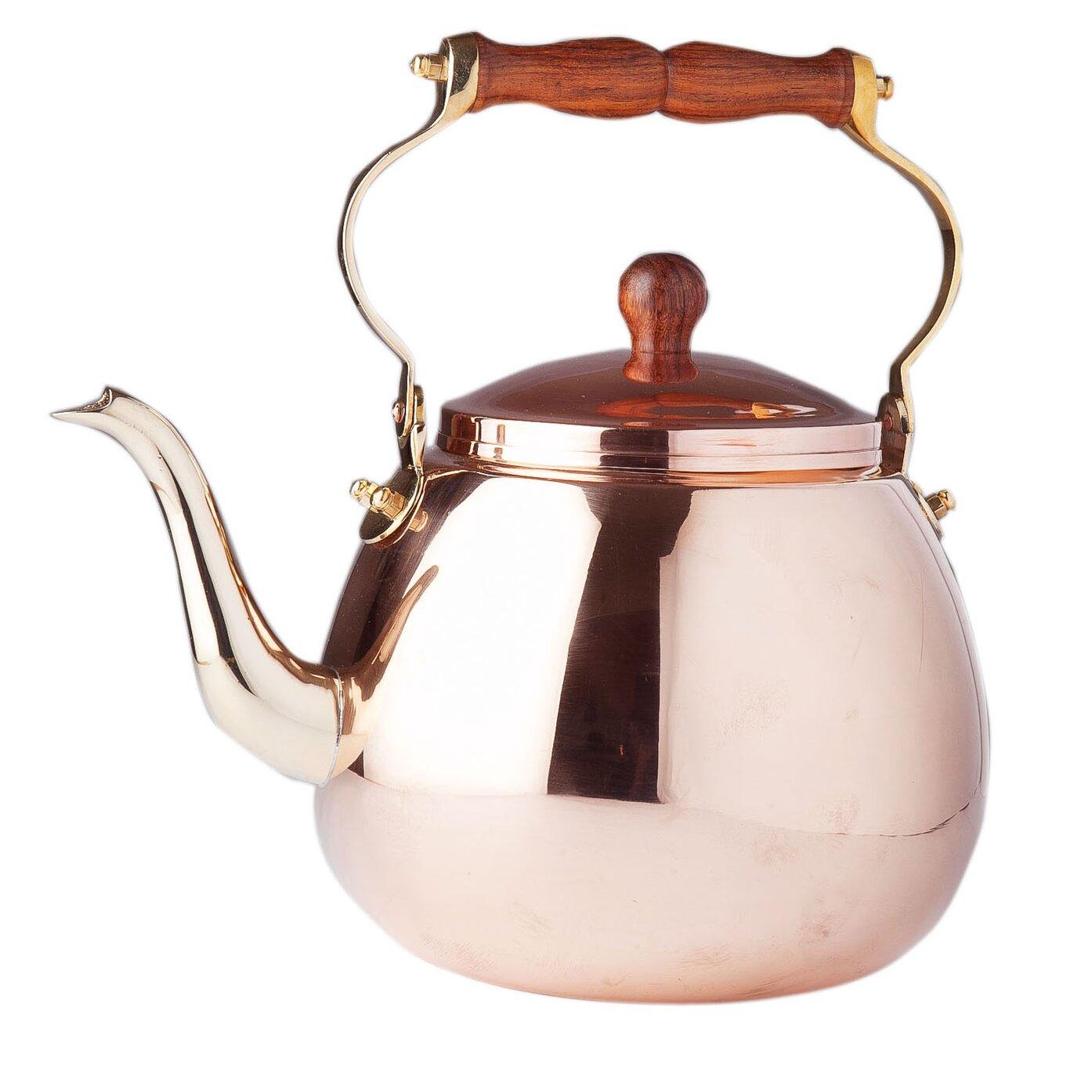 Japanese Copper Kettle Copper 4-qt Solid Tea Kettle
