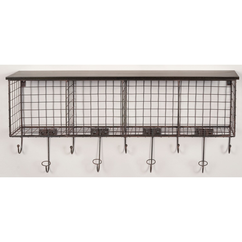 Linon 4 Cubby Wall Shelf