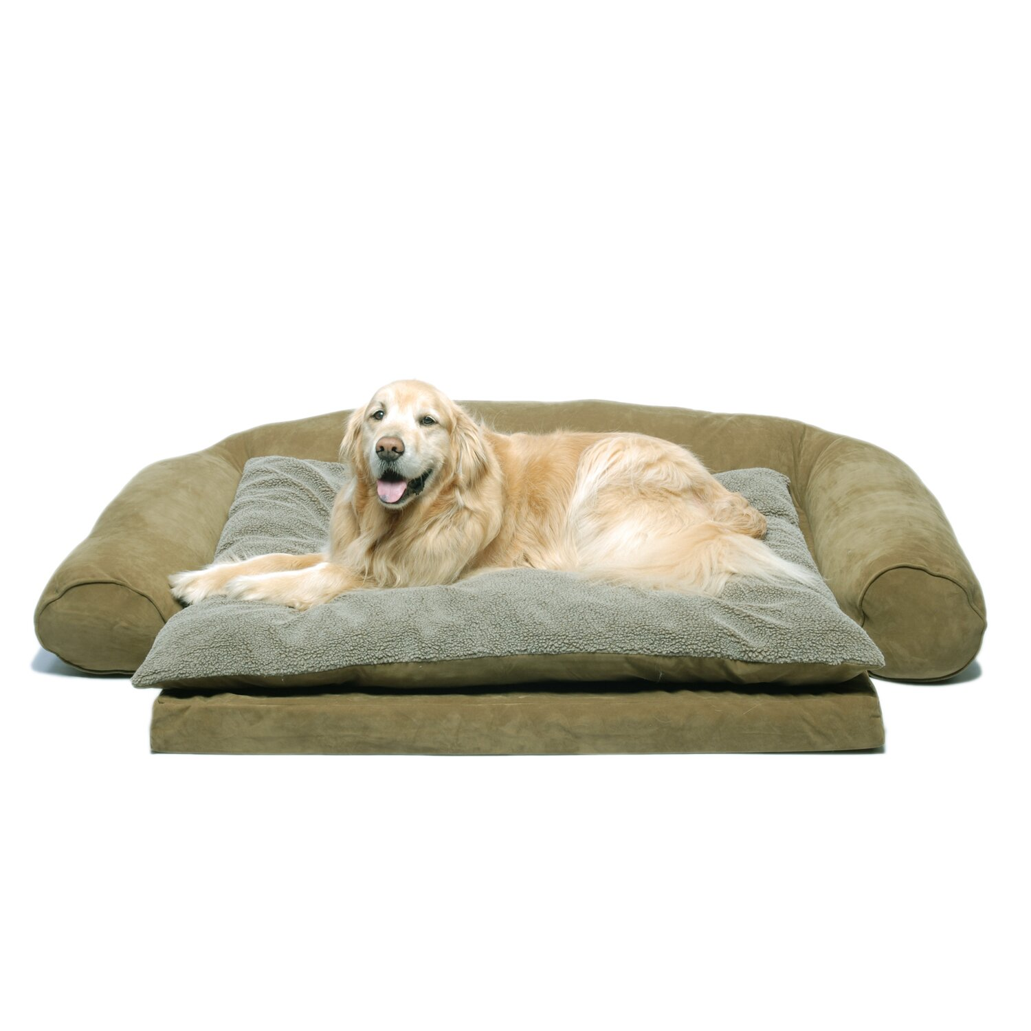 Ortho Sleeper Comfort Couch Bolster Dog Bed For Joint Pain Relief