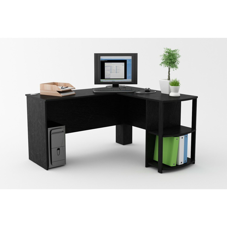 Computer Desk With Shelves Above Computer Desk With 2 Shelves