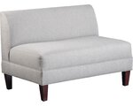 Carolina Accents Briley Armless Loveseat - Linen / Sand