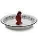 Pfaltzgraff Winterberry Pie Plate with Cardinal Pie Bird