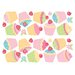 Brewster Home Fashions Euro Cupcake Wall Decal