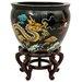 Oriental Furniture Lacquer Dragons Vase