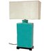 """Oriental Furniture 28"""" H Table Lamp with Rectangular Shade"""