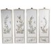 Oriental Furniture 4 Piece Birds and Flowers Wall Décor Set