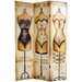 "Oriental Furniture 70.88"" x 47.25"" Mannequin & Singer 3 Panel Room Divider"