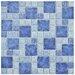 "EliteTile Pool 2"" x 2"" Porcelain Mosaic Tile in Adriatic"