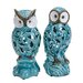 2 Piece Decorative Ceramic Owl Figurine Set