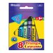 Bazic 8 Color Premium Quality Triangle Crayon