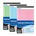 "Bazic 5"" X 8"" Junior Legal Pad Assorted Colors (3 Pack)"