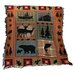 Manual Woodworkers & Weavers Bear Lodge Tapestry Cotton Throw