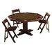 Kestell Furniture 52'' Oak Pedestal Base Poker Table Set